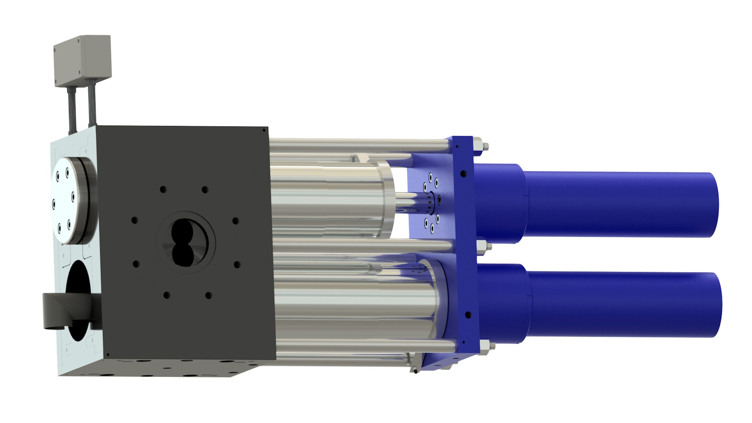 Polymer Extrusion Screen Changer with Diverter Valve