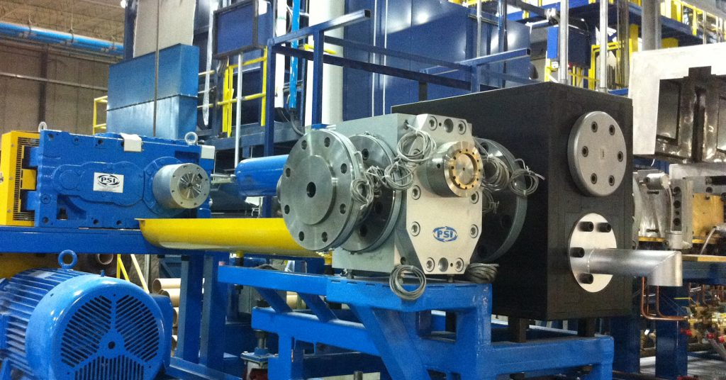 Polymer Extrusion Gear Pump and Screen Changer System in Plant
