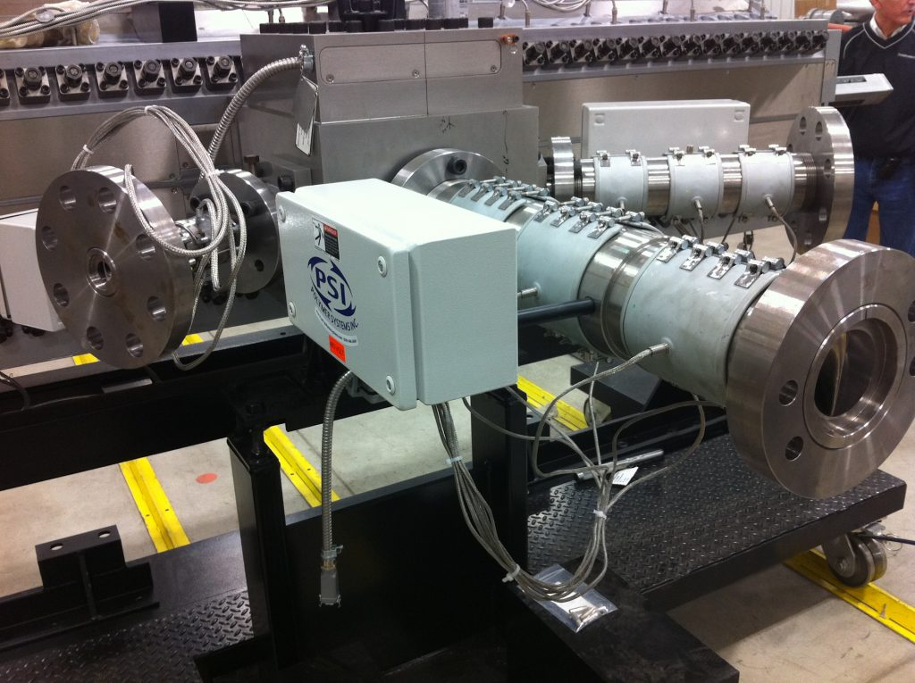 Static Mixers on a co-extrusion line