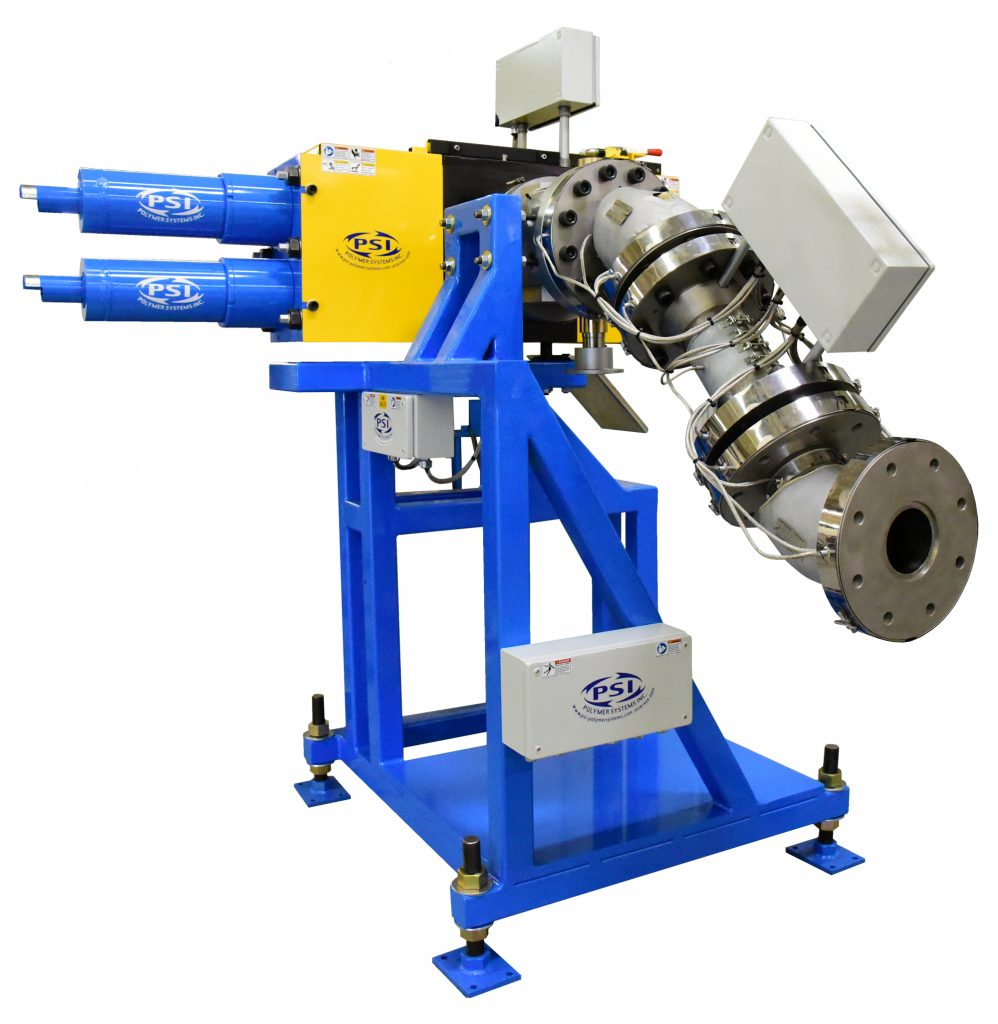 Polymer Extrusion Screen Changer with Gear Pump System Melt Pipe
