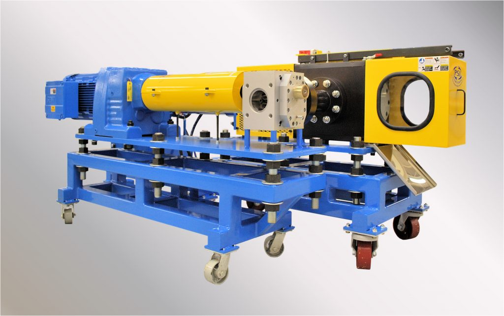 Polymer Extrusion Discontinuous Screen Changer with Gear Pump